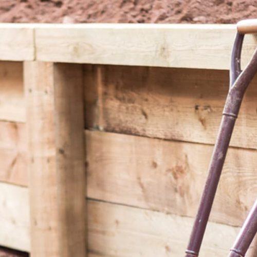 Timber Retaining Wall & Timber Posts